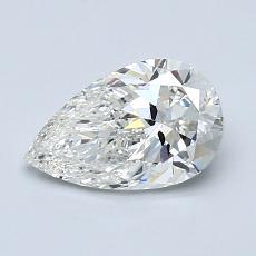 推荐宝石 4:1.01 克拉梨形切割钻石