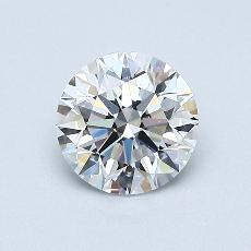 0.70-Carat Round Diamond Ideal E VS1
