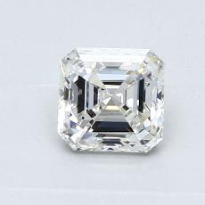 Piedra recomendada 3: Diamante de talla Asscher de 0.80 quilates