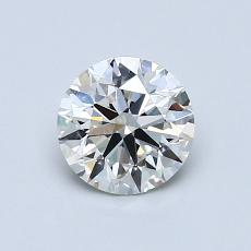 0.80-Carat Round Diamond Ideal I VS1