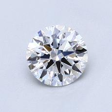 0,80-Carat Round Diamond Ideal D VVS2