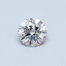0.40-Carat Round Diamond Ideal F VS2