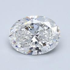 1.20 Carat 橢圓形 Diamond 非常好 F SI1