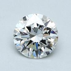 1.00-Carat Round Diamond Ideal G VVS1