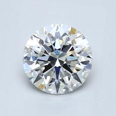 1.05-Carat Round Diamond Ideal G VVS2