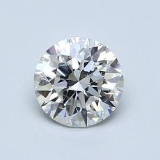 0.90-Carat Round Diamond Ideal H SI2
