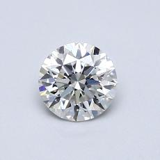 0.60-Carat Round Diamond Ideal F VVS2