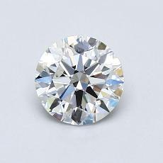 0.75-Carat Round Diamond Ideal E VS1