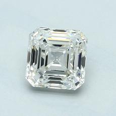 1,01 Carat Asscher Diamond Très bonne I VS1