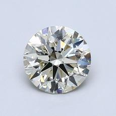 1,00-Carat Round Diamond Ideal K SI1