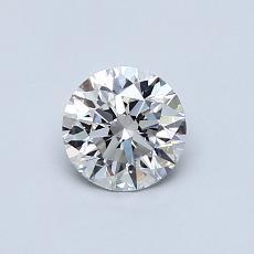 0.54 Carat 圆形 Diamond 理想 H VS2