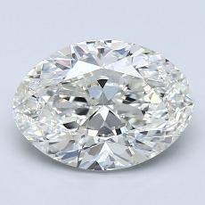 Piedra recomendada 2: Diamantes de talla ovalada de 2.01 quilates