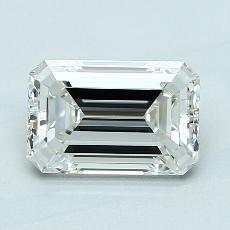 1.71-Carat Emerald Diamond Very Good H VVS1