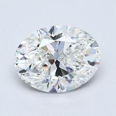 1,01 Carat Ovale Diamond Très bonne F VVS2