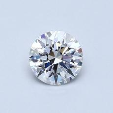 0.53-Carat Round Diamond Ideal D FL