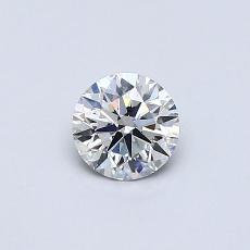 0.40-Carat Round Diamond Ideal F VS1