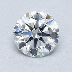 1.00-Carat Round Diamond Ideal G SI1