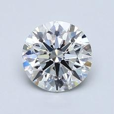 1.20-Carat Round Diamond Ideal F VVS2