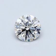 0.51 Carat 圓形 Diamond 理想 H VS1