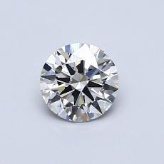 0.50-Carat Round Diamond Ideal J VS2