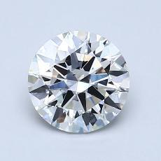 1.25-Carat Round Diamond Ideal F VS2