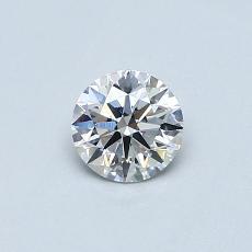 0.43-Carat Round Diamond Ideal E SI1