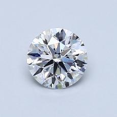 0.73-Carat Round Diamond Ideal D VS1