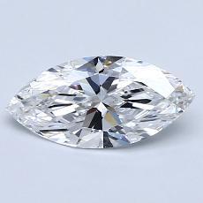 1.02-Carat Marquise Diamond Very Good D IF