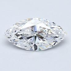 0,90-Carat Marquise Diamond Very Good D IF
