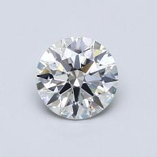0.70 Carat 圆形 Diamond 理想 H SI1
