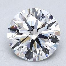 2.03-Carat Round Diamond Ideal D VS2