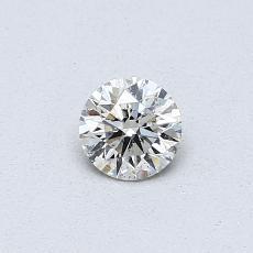 推薦鑽石 #2: 0.30 克拉圓形切割鑽石
