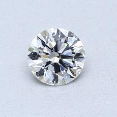 0.50 Carat 圆形 Diamond 理想 G IF
