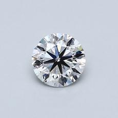 0.50 Carat 圆形 Diamond 非常好 F VS1