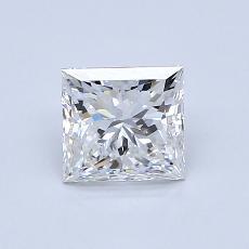 1.00 Carat 公主方形 Diamond 非常好 F VS1