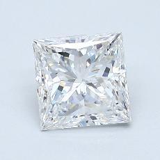 1.01-Carat Princess Diamond Very Good E VVS1