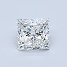 目标宝石:0.90 克拉公主方形钻石