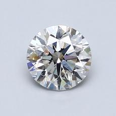 0,90 Carat Rond Diamond Idéale I VS2