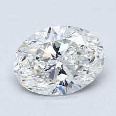 1.20 Carat 椭圆形 Diamond 非常好 F VVS1