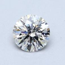 0.80-Carat Round Diamond Ideal I VVS2