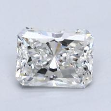 1.04-Carat Radiant Diamond Very Good F IF