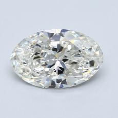 1.00 Carat 椭圆形 Diamond 非常好 G VS2