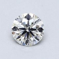 0,75 Carat Rond Diamond Idéale F VVS1
