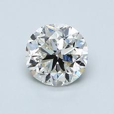 1,00 Carat Rond Diamond Bonne I VVS2