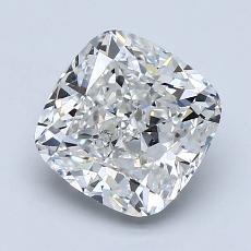 2.01-Carat Cushion Diamond Very Good F SI1