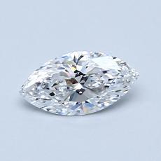 0.50-Carat Marquise Diamond Very Good D IF