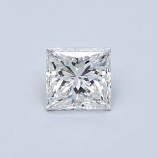 Recommended Stone #4: 0.44-Carat Princess Cut Diamond