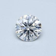 0.50-Carat Round Diamond Ideal F SI2