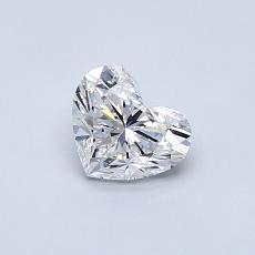 0.50-Carat Heart Diamond Very Good D VVS2