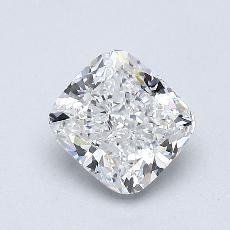0.91-Carat Cushion Diamond Very Good E VS1